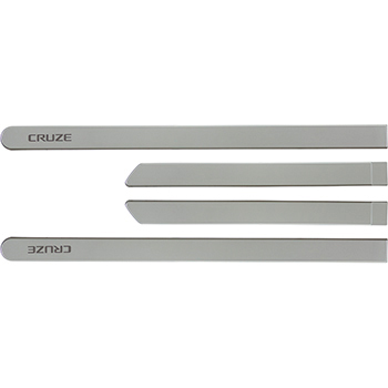 Friso Lateral Prata Switchblade - 4 Pc Cruze 2011 / 2018 - F