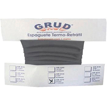 Espaguete Termo Retrátil Anti-chama 1/4 (6,4mm X 1m) Univers