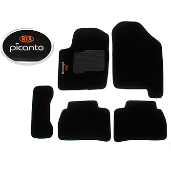 Tapete Carpete Preto Picanto - Flash - Jg - kia Motors -