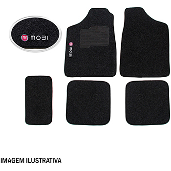 Tapete Carpete Preto 4 Pc Mobi (mod. On) - Flash - Jg - i